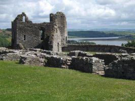 castle remains with estuary view by nonyeB
