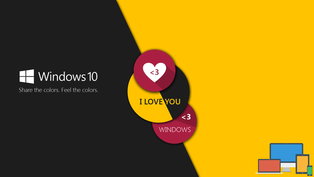 Windows 10 Share the colors - Wallpaper by NoFearl