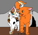 Firestar and Spottedleaf by 00GlaceonRoxz00