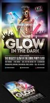 Glow in The Dark Party Flyer Template by saltshaker911