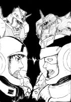 Amuro Ray VS Char Aznabel by sharingandevil