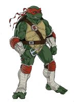 teenage mutant ninja turtles sketch of Raphael by KingJames06