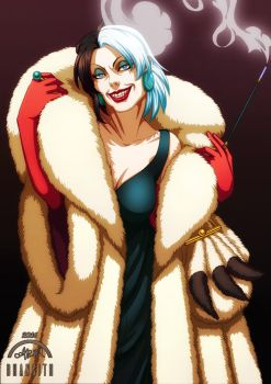 Disney Villains - Cruella de Vil by Bhansith