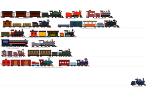 Trains of the Cartoon World by RailroadNutjob