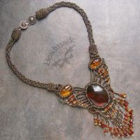 Amber Beadwoven Necklace by Beadmask