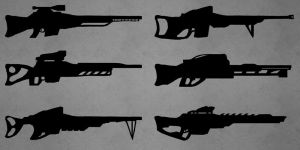 Sniper Rifles Silhouettes by Chachava