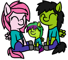 Ginia, Kyle, and Ralph as Zombies by FlameFyre1235