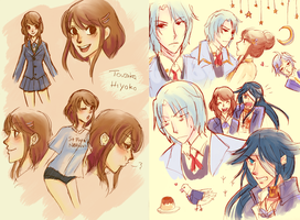 hatoful doodles :v by scarfprincess
