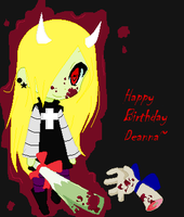 Birthday Carnage With A Leek by timburtonluver28