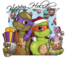 TMNT - Christmas 2013 by KeyshaKitty