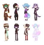 Male mixed batch - 6/8 open by kawaii-antagonist