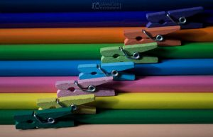 Colorful Mini clothespin by aleexdee
