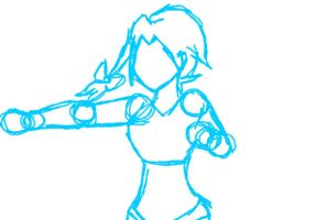 My First Flash animation WIP: Lily punch by runningbox11