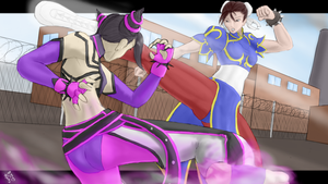 Chun Li vs Juri by ElPanachino