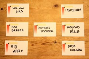 Cocktail labels by Itti