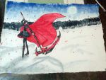 Water color painting: Ruby Rose by chi171812