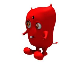 Pepper the Devil angled view by Sharper