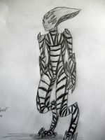 67-500 Sketches Alien thing by mylovelyghost
