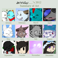 2012 Art Summary by Banditkazoo