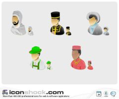 Human Races Vista Icons MAC by Iconshock