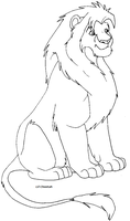 Lion lineart by Lil-Cheetah