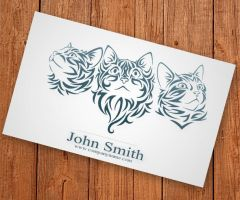 Cat Business Card by Freshbusinesscards