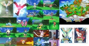 Pokemon X and Y art page! by fakemon123