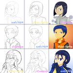 Switch Meme #5 - Digimon Blue Hair boys by Violet-Tarita