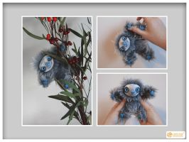 Pose-able Winter Mini Sloth by LimitlessEndeavours