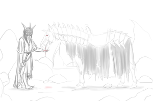 Sketch THE MOUTH OF SAURON by Vilka6
