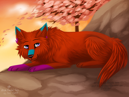 Red Wolf by DOLFIY