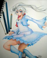 RWBY Weiss Schnee by stray-life