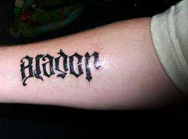 Ambigram Tattoo by CoDGuy