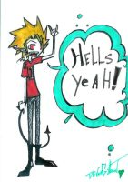 Hells Yeah Hiruma by Squidbiscuit