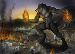 Burn it down - Commission by KeksWolf