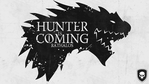 Monster Hunter - Hunter Is Coming (White version) by Ghost-Unit