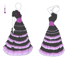 Outfit Adopt - Petal Dress - SOLD by ShadowInkAdopts