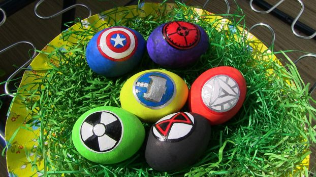 Avengers Easter Eggs by NemoNemini
