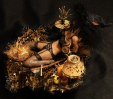 OOAK Halloween Trick Or Treat Witch Mixed Media 3 by GeorgeCalado