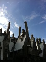 The rooftops of Hogsmeade by G-L-I-M-M-E-R
