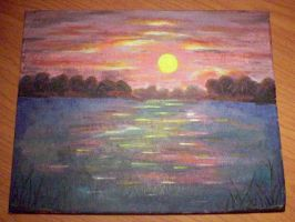 Acrylic Sunset by cordria