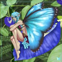 Blue Morpho Fairy by cuteskittles4u