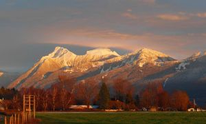 Mount Cheam and Dog Face on New Years eve by puffthemagicdragon77