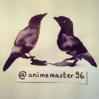 Little Birdies - Ink and Water Magic + Video by anime-master-96