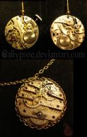 Pocket Watch Jewelry Set by Caliypsoe