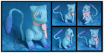 Shiny Mew OC Custom Plush by Nazegoreng