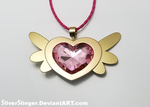 Equestrian Pink Heart of Courage by SilverSlinger