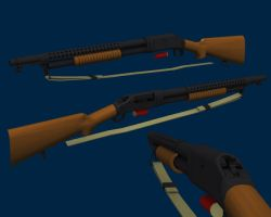 Winchester M1897 - Trench Gun by redroguexiii