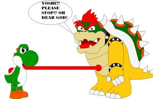 Yoshi Eats Bowser Part 2 by samus0suit