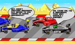 Chasing A Hedgehog With F1 Cars by Somcothehedgehog